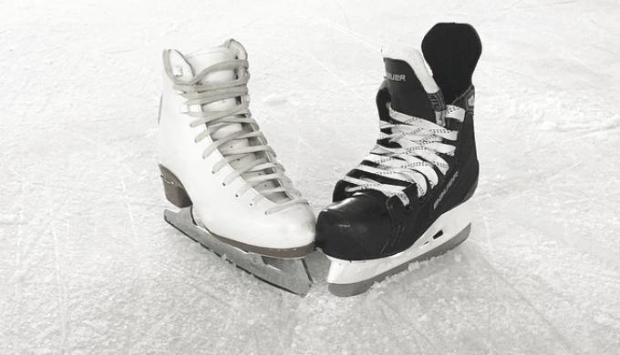 スケートリンクとスケート靴