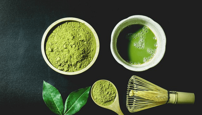 抹茶と茶道の道具