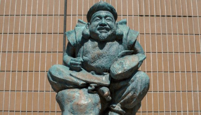 恵比寿様の銅像