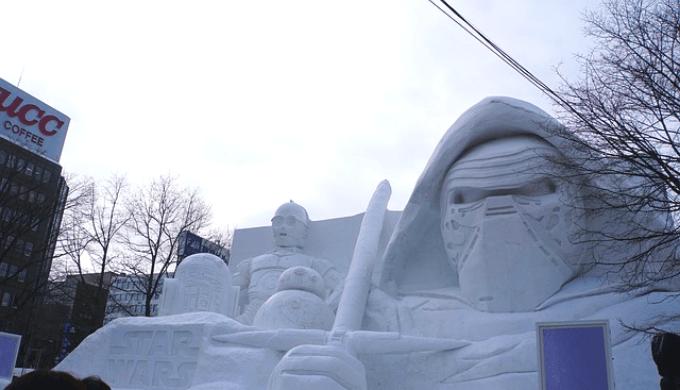 さっぽろ雪まつりの雪像