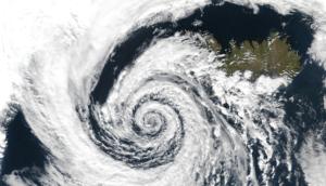 気象衛星からの写真