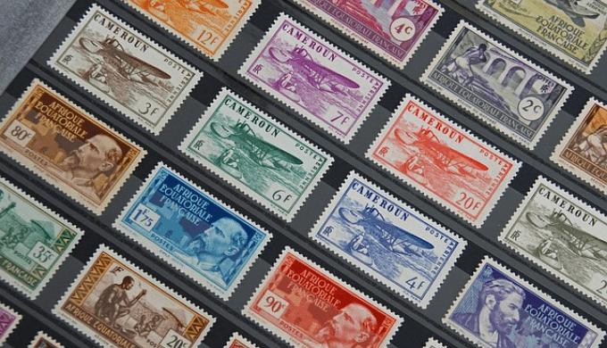 記念切手のコレクション