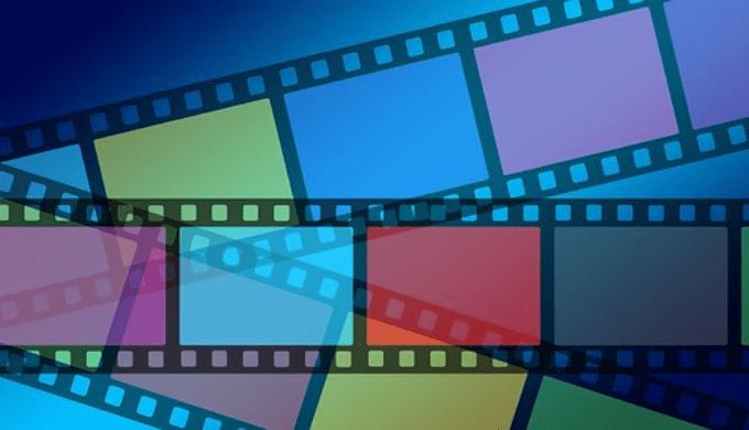 カラフルな映画のフィルム