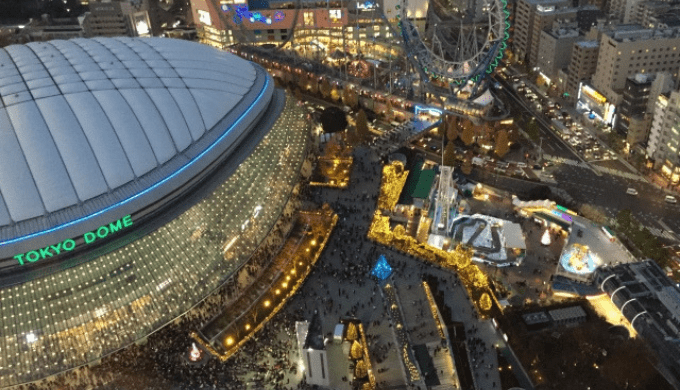 上空から見た東京ドーム