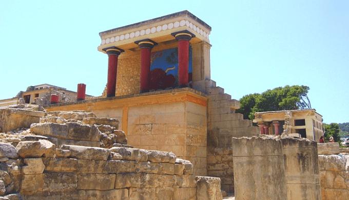 クノッソス遺跡の外観