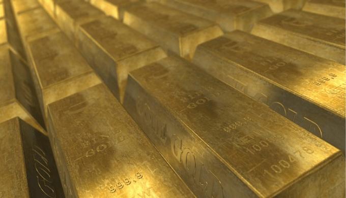 山積みの金塊