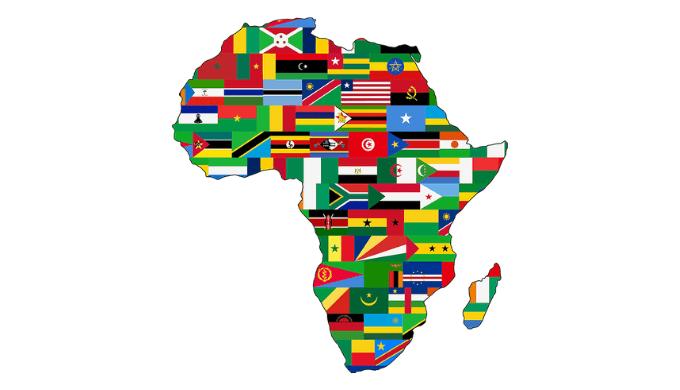 アフリカ大陸と国旗